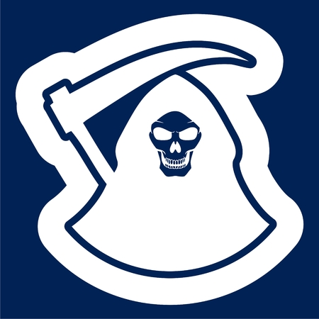 Death blue icon - Illustration