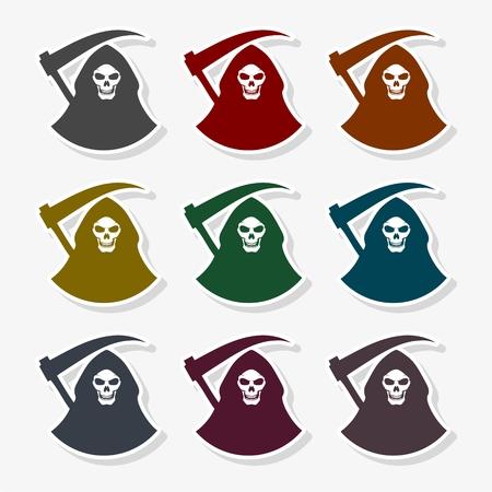 Death black icon - Illustration
