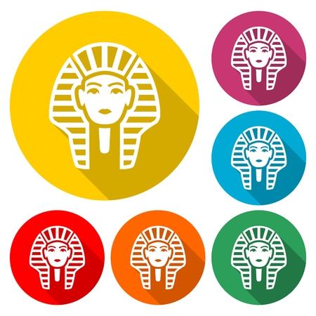 Pharaoh icon - simple vector Illustration