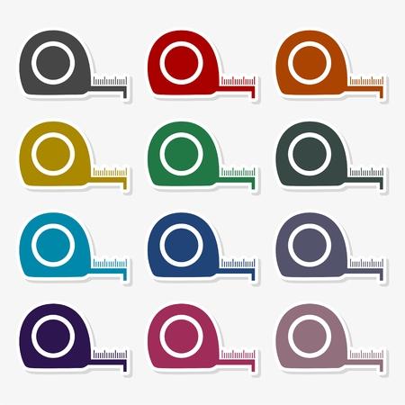 Vector of flat icon, tape measure - Illustration Illustration