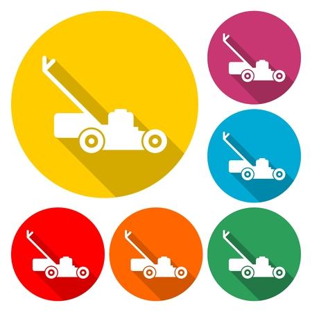 Lawn mower icon vector illustration Vettoriali
