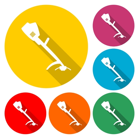 Weed Trimmer Icons - Illustration