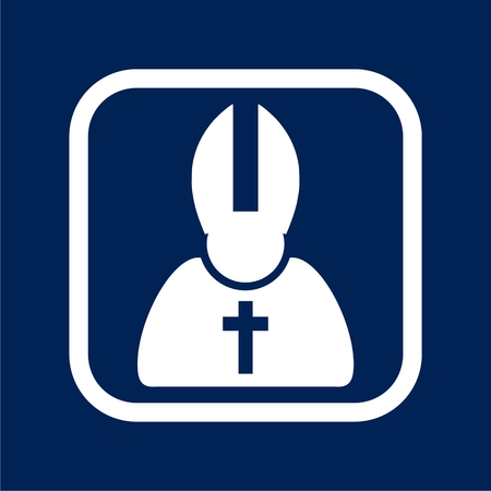 Priest Icon Flat Graphic Design - Illustration. Ilustração