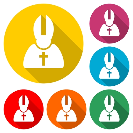Priest Icon Flat Graphic Design - Illustration Imagens - 96135180
