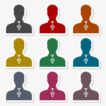 Priest Icon Flat Graphic Design - Illustration