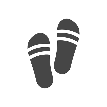 Slippers icon - Illustration.