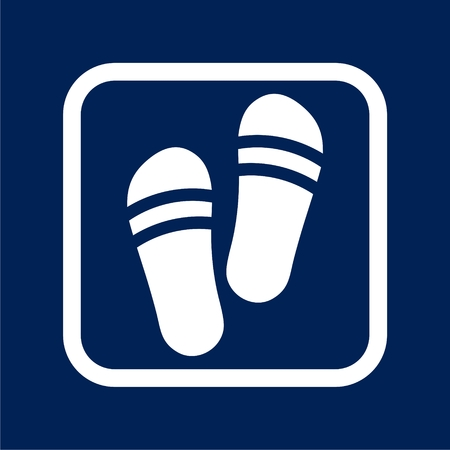 Slippers icon - Vector illustration.