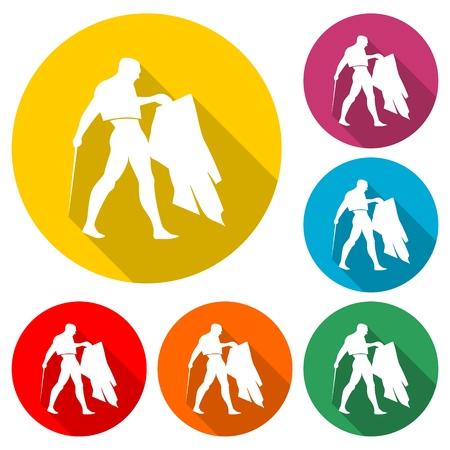 Bullfighting icon vector illustration