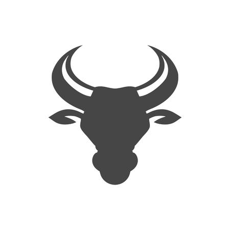 Bull head icon vector illustration on white background.