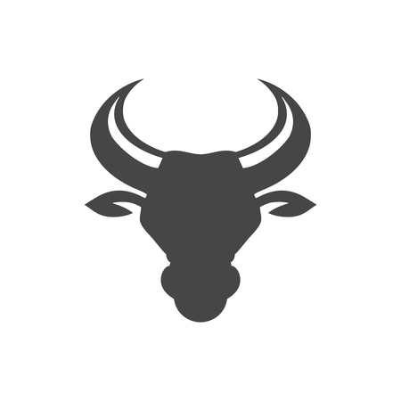 Bull head icon vector illustration on white background.