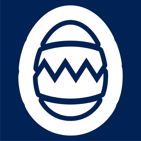Egg icon with broken structure iconic symbol vector illustration