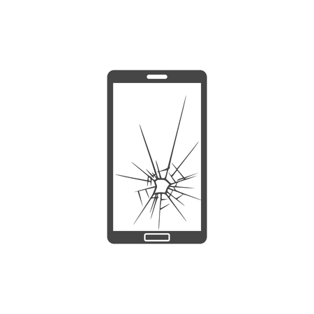 Vector broken Smart phone - Illustration