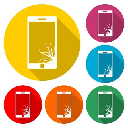 Vector broken Smart phone - Illustration Banco de Imagens - 96564394
