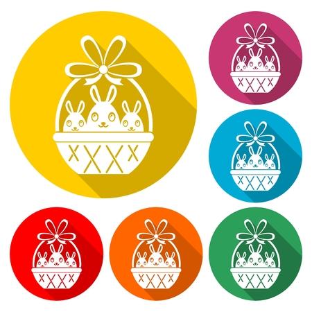 Basket with Easter egg - Illustration Illustration
