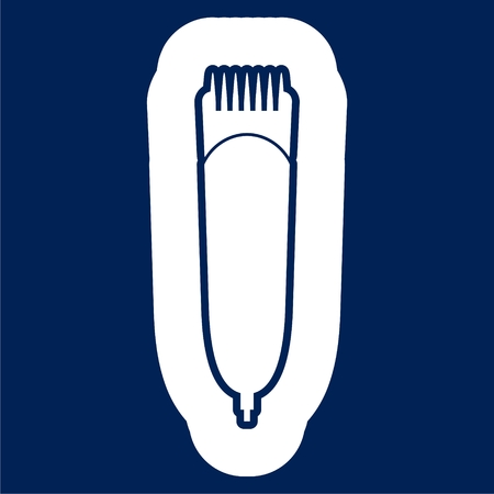Hair clipper machine icon - Vector illustration.
