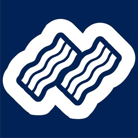 Bacon simple icon illustration. Vettoriali