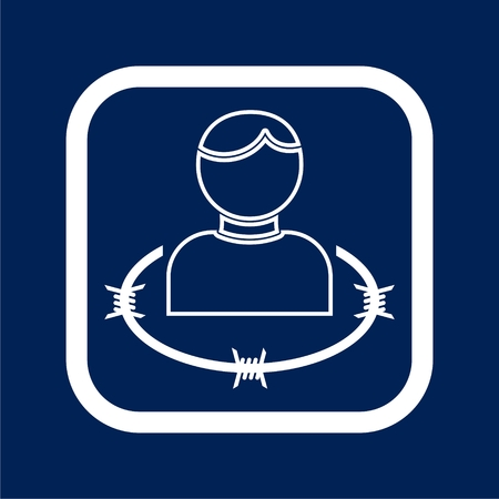 User icon with barbwire - Illustration Vectores