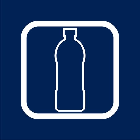 Soda, water and juice or tea bottles icon - Illustration