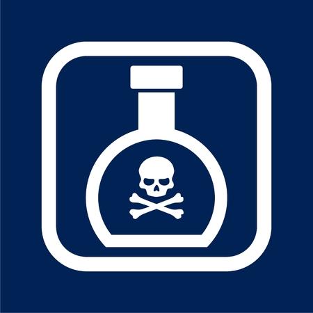 Poison flask - Vector illustration.