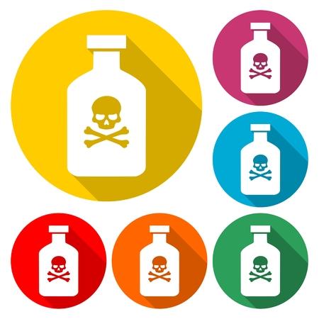 Poison flask icon - Illustration