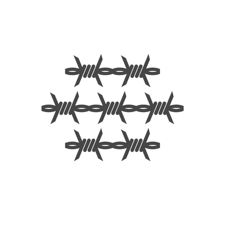 Barbed wire icon - Illustration