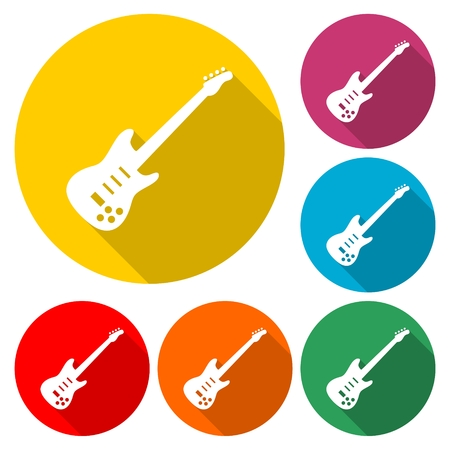 Electric guitar icon - Illustration