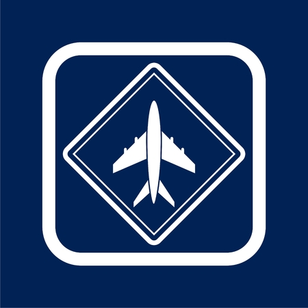 Airplane icon - Illustration