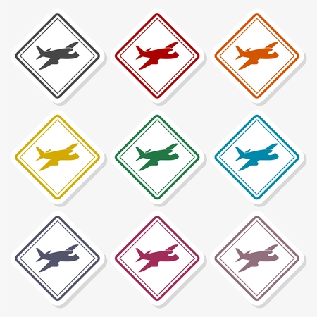 Airport application icons vector - Illustration Ilustração