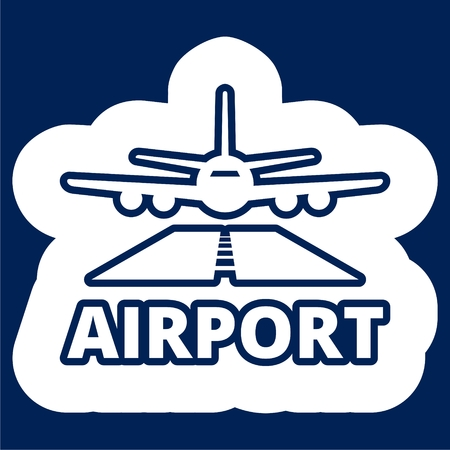 Airport icon vector - Illustration