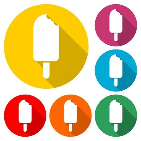 Ice cream icon, Ice Pop Icon - Illustration
