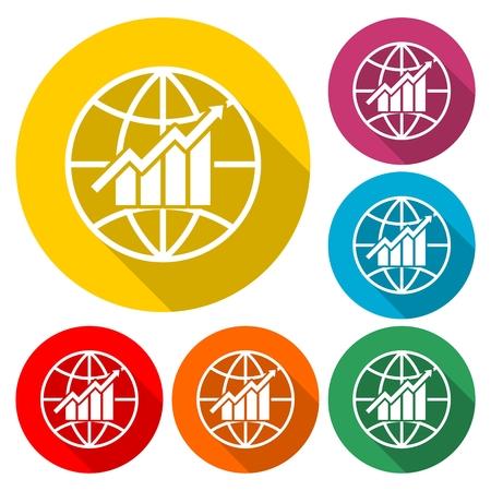 Global economics icon - Illustration