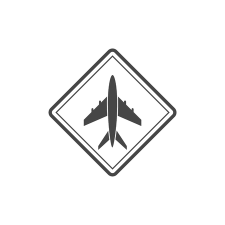 Airplane icon - Vector illustration. Illustration