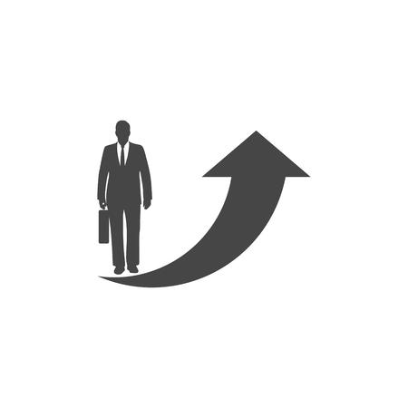 Business success illustration on white background. Illustration