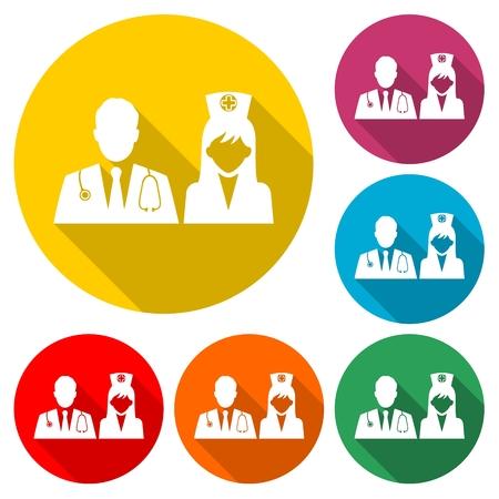 Medical Team - Vector illustration.