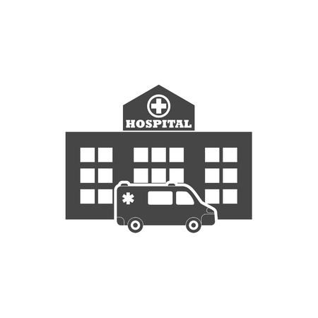 Hospital building - Vector illustration.
