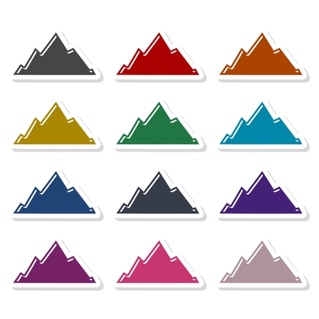 Mountain icon illustration Ilustrace