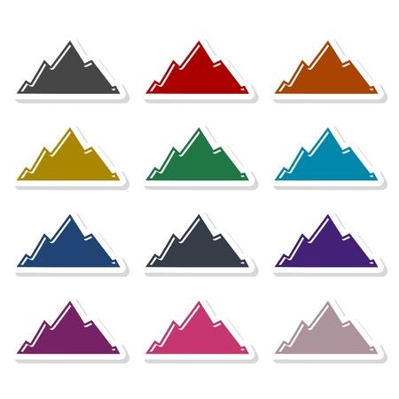 Mountain icon illustration Illustration