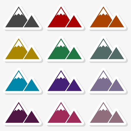 Mountain Icon - Illustration