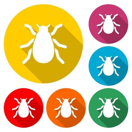 昆虫シルエットアイコン - イラスト 写真素材 - 99213799