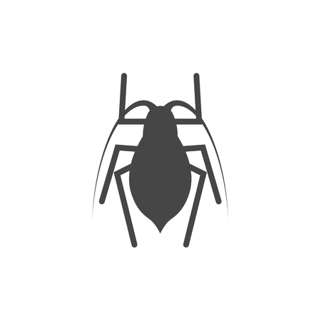 Insect icon black silhouette - Illustration