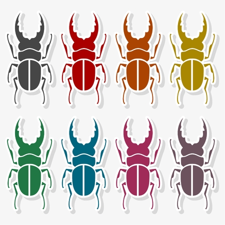 Insect icon silhouette - Illustration 向量圖像