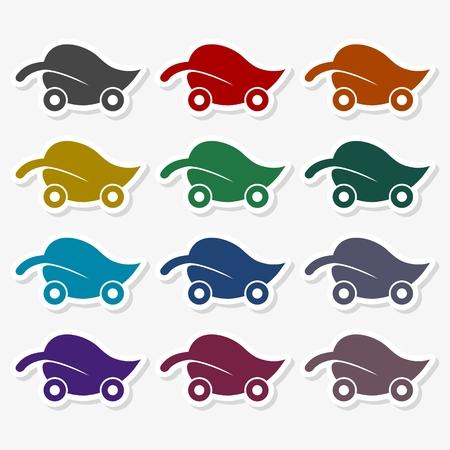 Eco Car - Illustration Vector Illustration