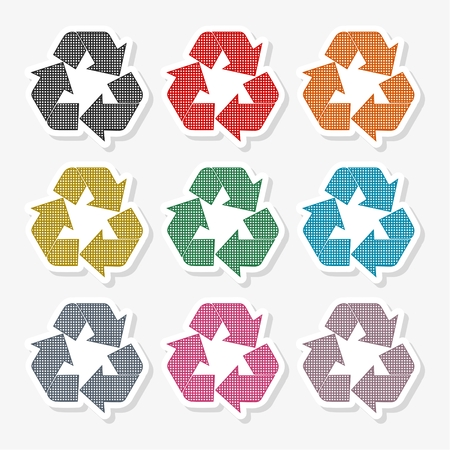 Ecology simple icon, Earth icon - Illustration