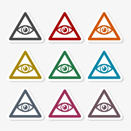Alziende oogillustratie. Stock Illustratie