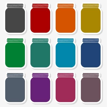 Jam, Jar Vector Icon in multi-color Illustration.