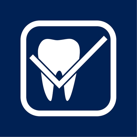Teeth protection, tooth care dental medical vector concept Illustration.