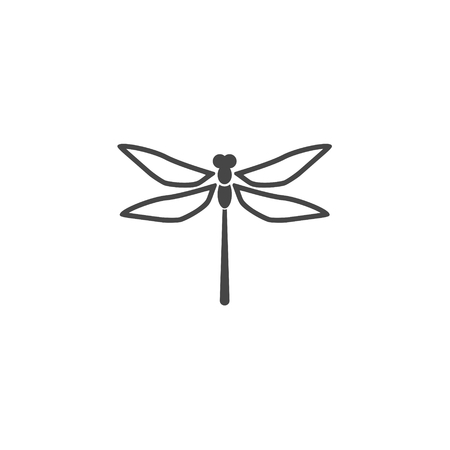 Dragonfly insect vector icon Çizim