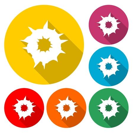 Bullet holes, Vector icon