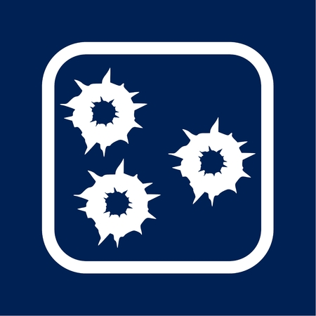 Bullet holes. Vector Archivio Fotografico - 100584038