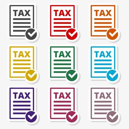 Vector tax icon set - Illustration Illusztráció